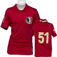 Florida State Seminoles Burgundy Collar Scholar Polo