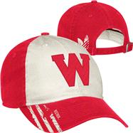 Wisconsin Badgers adidas Vault Logo Slouch Adjustable Hat