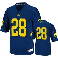 Michigan Wolverines Football Jersey: adidas #12 Navy Replica Football Jersey