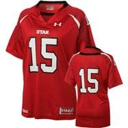 Utah Utes 2012 Replica Football Jersey: Women's Red Under Armour # Replica Football Jersey