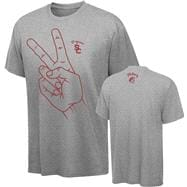 USC Trojans Youth Grey V for Victory T-Shirt