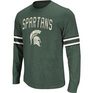 Michigan State Spartans Dark Green Tackle Long Sleeve Slub Knit T-Shirt