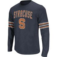 Syracuse Orange Navy Tackle Long Sleeve Slub Knit T-Shirt