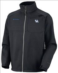 Kentucky Wildcats Black Columbia Ascender II Softshell Jacket