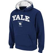 Yale Bulldogs Navy Twill Tailgate Hooded Sweatshirt
