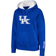 Kentucky Wildcats Women's Royal Twill Victory Lap Hooded Sweatshirt