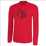 Louisville Cardinals Cardinal adidas On-Court Basketball Long Sleeve Shooter Shirt