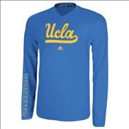 UCLA Bruins Blue adidas On-Court Basketball Long Sleeve Shooter Shirt