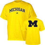 Michigan Wolverines adidas Gold Relentless T-Shirt