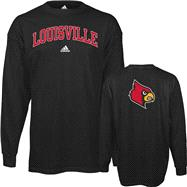 Louisville Cardinals adidas Black Relentless Long Sleeve T-Shirt