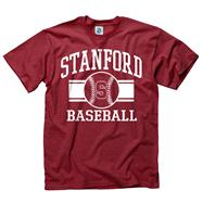Stanford Cardinal Cardinal Wide Stripe Baseball T-Shirt