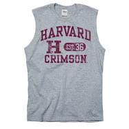 Harvard Crimson Grey Boardwalk Sleeveless T-Shirt