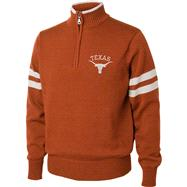 Texas Longhorns Burnt Orange/White 1/4 Zip Pullover Sweater