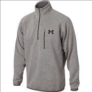 Michigan Wolverines Marled Grey  1/2 Zip Sweater Jacket