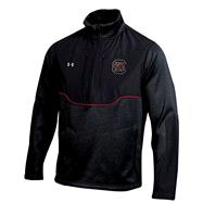 South Carolina Gamecocks Black Under Armour 2012 Coaches Football Sideline Contender Half-Zip Jacket
