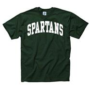 Michigan State Spartans Green Bold Arch Mascot T-Shirt