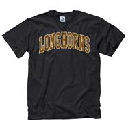 Texas Longhorns Black Bold Arch Mascot T-Shirt