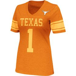 Texas Longhorns Burnt Orange Women's Rebel V-Neck T-Shirt