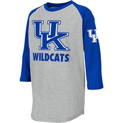 Kentucky Wildcats Youth Ball Park 3/4 Sleeve T-Shirt