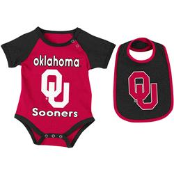 Oklahoma Sooners Infant Rocker Creeper and Bib Set