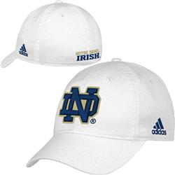 Notre Dame Fighting Irish White adidas 2013 Camp Slope Flex Hat