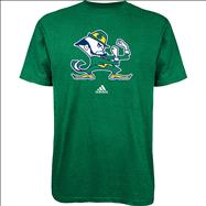 Notre Dame Fighting Irish Youth Green adidas Leprechaun Logo T-Shirt