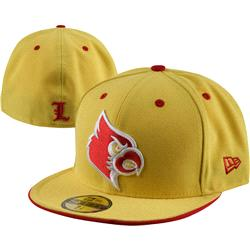 Louisville Cardinals New Era Yellow 59FIFTY Fitted Hat