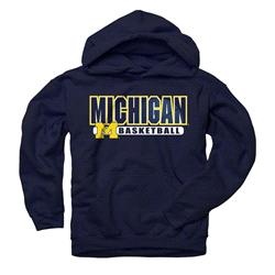 Michigan Wolverines Navy Youth Show Thru Basketball Hooded Sweatshirt