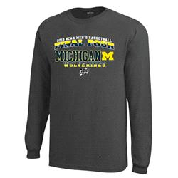 Michigan Wolverines Charcoal 2013 NCAA Basketball Final Four Slam Dunk Long Sleeve T-Shirt