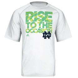 Notre Dame Fighting Irish adidas Impact Basketball On-Court Camo Climalite Shooting T-Shirt -White