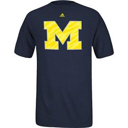 Michigan Wolverines adidas Impact Logo T-Shirt -Navy