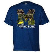 Michigan Wolverines adidas Navy Stadium Glimpse T-Shirt