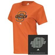 Oklahoma State Cowboys adidas Orange Women's X-Ray Too Blacklight Reactive T-Shirt