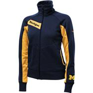 Michigan Wolverines Women's Navy Columbia Velocity Track Jacket