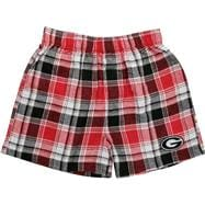 Georgia Bulldogs Red/Black Legend Flannel Boxer Shorts