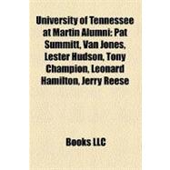University of Tennessee at Martin Alumni : Tennessee-Martin Skyhawks Football Players, Pat Summitt, Van Jones, Leonard Hamilton, Lester Hudson
