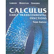 Calculus Early Transcendental Functions,9780618223077
