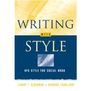 Writing with Style : APA Style for Social Work,9780534263119