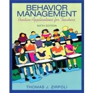 Behavior Management Positive Applications for Teachers,9780137063208