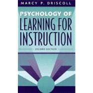 Psychology of Learning for Instruction,9780205263219