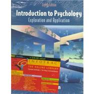 Introduction to Psychology : Exploration and Application with InfoTrac,9780534363345
