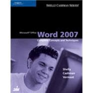 Microsoft Office Word 2007 : Complete Concepts and Techniques