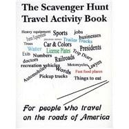The Scavenger Hunt Travel Activity Book, 9780615143392
