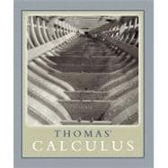 Thomas' Calculus (Single Variable, chs 1-11) paperback Version