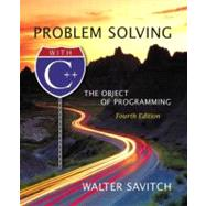 Problem Solving with C++ : The Object of Programming,9780321113474