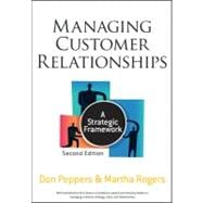 Managing Customer Relationships : A Strategic Framework,9780470423479