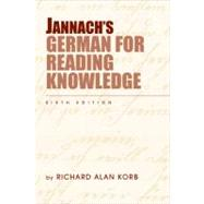 Jannach's German For Reading Knowledge