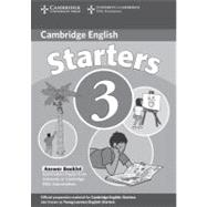 Cambridge Young Learners English Tests Starters 3 Answer Booklet: Examination Papers from the University of Cambridge ESOL Examinations