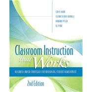 Classroom Instruction That Works : Research-Based Strategies for Increasing Student Achievement, 2nd Edition,9781416613626