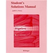 Student Solutions Manual for Intermediate Algebra,9780321613752